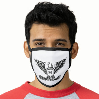 Monogram American Eagle Patriot Initial Face Mask