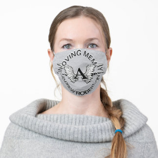 Monogram Memorial Remembrance Face Mask