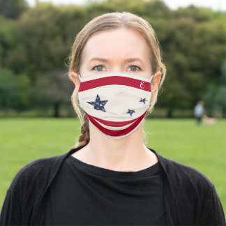 Monogram Patriotic Adult Cloth Face Mask