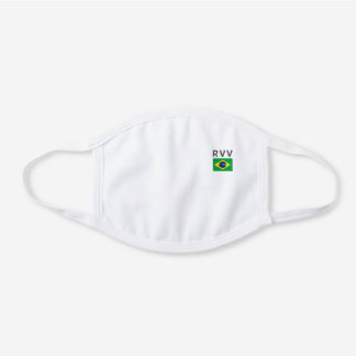 Monogramed Brasil Decorative Cotton Face Mask