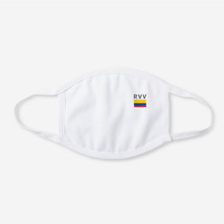 Monogramed Colombia Decorative Cotton Face Mask