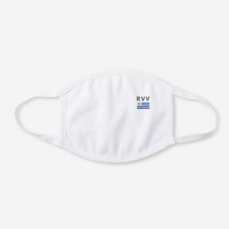 Monogramed Uruguay Decorative Cotton Face Mask