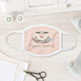 Monogrammed Cup of Coffee Face Mask