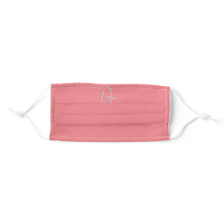 Monogrammed - Pink-Red Adult Cloth Face Mask