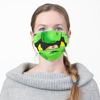 Monster mouth (Green) Adult Cloth Face Mask