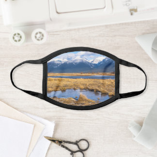 Montana Mountains All Over Cotton & Poly Blend Face Mask