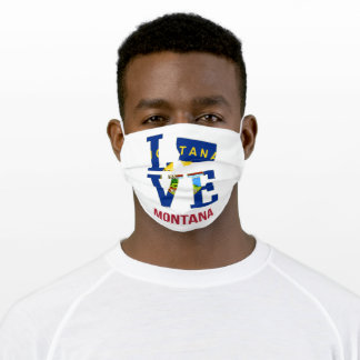 Montana state love adult cloth face mask