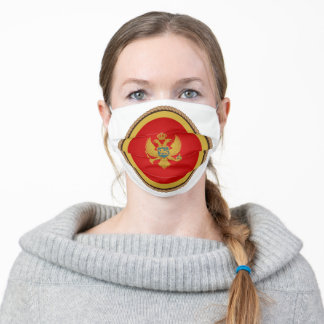 Montenegrin Flag Seal Adult Cloth Face Mask
