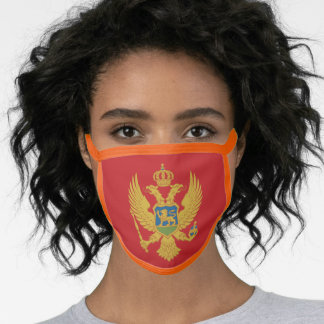 Montenegro Flag Face Mask - fashion/sports fans