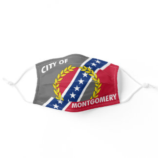 Montgomery, Alabama City Flag Cloth Face Mask