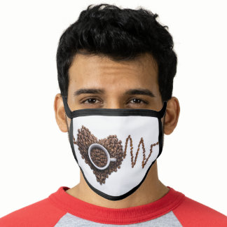 Morning Coffee First Design Cotton Poly Face Mask