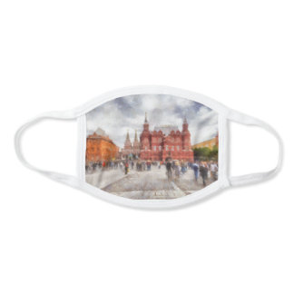 Moscow, Russia, Manezhnaya Square. Face Mask