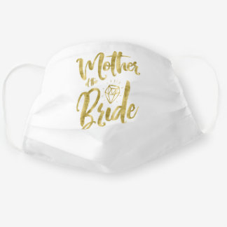 Mother Of The Bride Faux Gold Diamond Graphics Cloth Face Mask