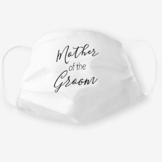 Mother of the Groom Calligraphy White Cloth Face Mask