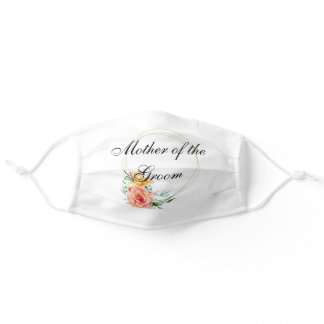 Mother of the Groom Floral Customize Wedding Adult Cloth Face Mask
