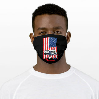 Motorhome USA Flag RV 4th of July Gift Adult Cloth Face Mask