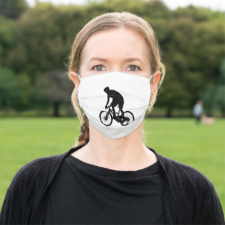 Mountain bike silhouette adult cloth face mask