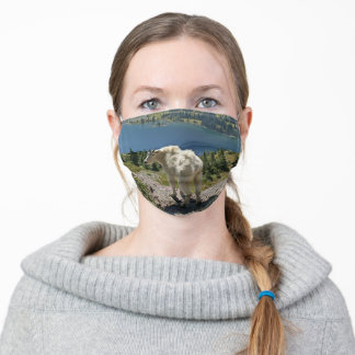 Mountain Goat at Glacier National Park Adult Cloth Face Mask