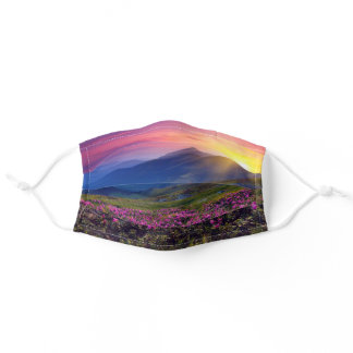 Mountain Sunrise Wildflowers Comfortable Women's Adult Cloth Face Mask