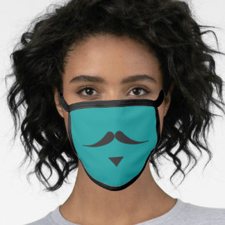 MOUSTACHE 'Sir Thomas' face mask on aqua