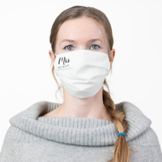 Mrs. Adult Cloth Face Mask