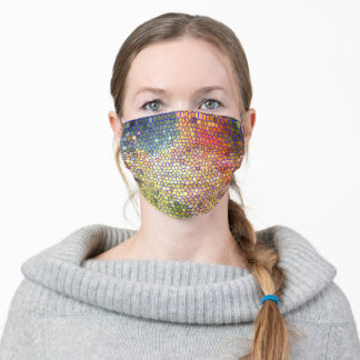 """""""MULTI-COLORED """"STAIN GLASS"""" LOOK FACE MASK"""