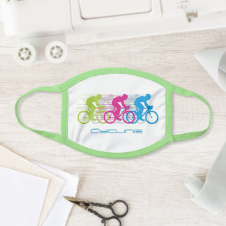 Multicolored Cycling Design Face Mask