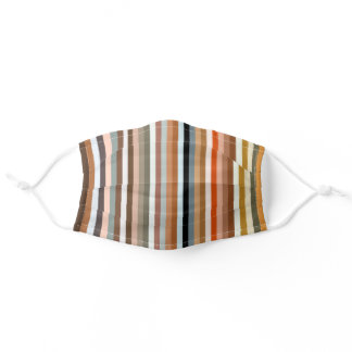 Multicolored Striped Pattern Adult Cloth Face Mask