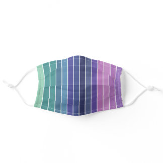 Multicolored Stripes Adult Cloth Face Mask