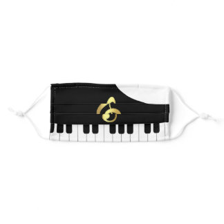 Music Lover - Piano Adult Cloth Face Mask