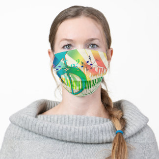 Musical Notes Piano Adult Cloth Face Mask