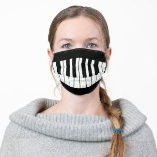 Musical Piano Teeth Adult Cloth Face Mask