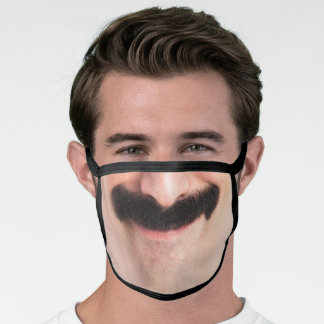 Mustache Hipster Mouth Beard Man Laughing Face Mask