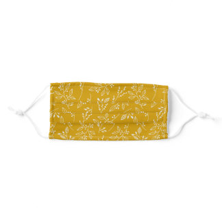 Mustard vibe adult cloth face mask