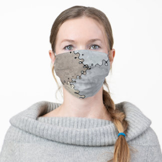 Muted Earth Tones Adult Cloth Face Mask