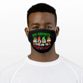 My Favorite Color Is Christmas Light Adult Cloth Face Mask