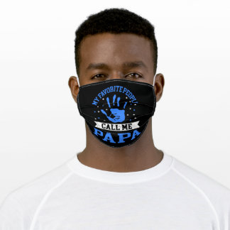 My Favorite People Call Me Papa Funny Fathers Day Adult Cloth Face Mask
