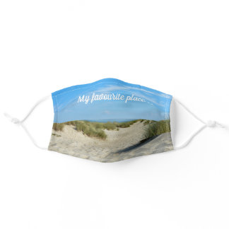 My favourite place  -   beach  dunes  - adult cloth face mask
