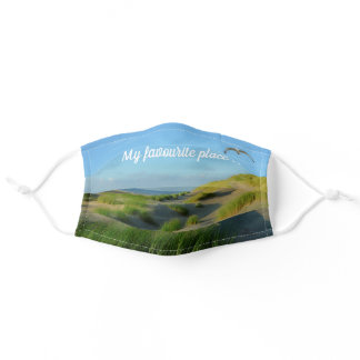 My favourite place  -  The beach  - Adult Cloth Face Mask