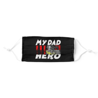 My Firefighter Dad Is My Hero Daughter Red Line Adult Cloth Face Mask