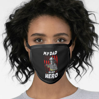 My Firefighter Dad Is My Hero Daughter Red Line Face Mask