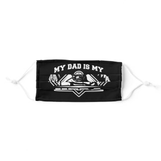 My Firefighter Dad Is My Hero Daughter Thin Red Adult Cloth Face Mask