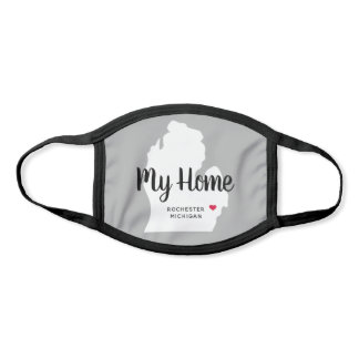 My Home | Gray State of Michigan Face Mask