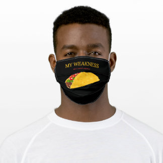 My Weakness Tacos #Eat #Sleep #Repeat Adult Cloth Face Mask