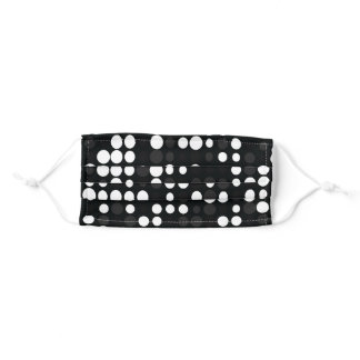 Mydeas | Black & White Gray Little Retro Dots Adult Cloth Face Mask