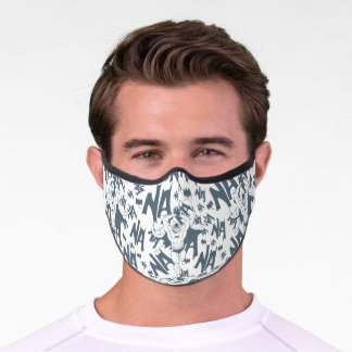 NA NA NA NA NA Batman Pattern Premium Face Mask