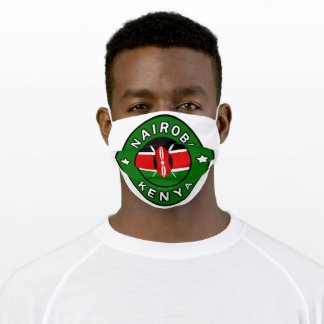Nairobi Kenya Adult Cloth Face Mask