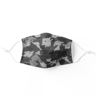 Name | Gray Pixel Camouflage Pattern Camo your Adult Cloth Face Mask