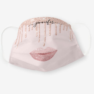 Name  Lips Rose Gold Blush Drips Makeup Artist Cloth Face Mask