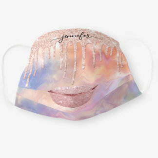 Name  Lips Rose Holograph Drips Makeup Artist Cloth Face Mask